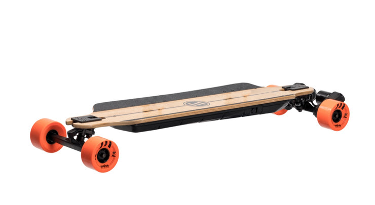 GTR Bamboo with 97mm street orange wheels by evolve