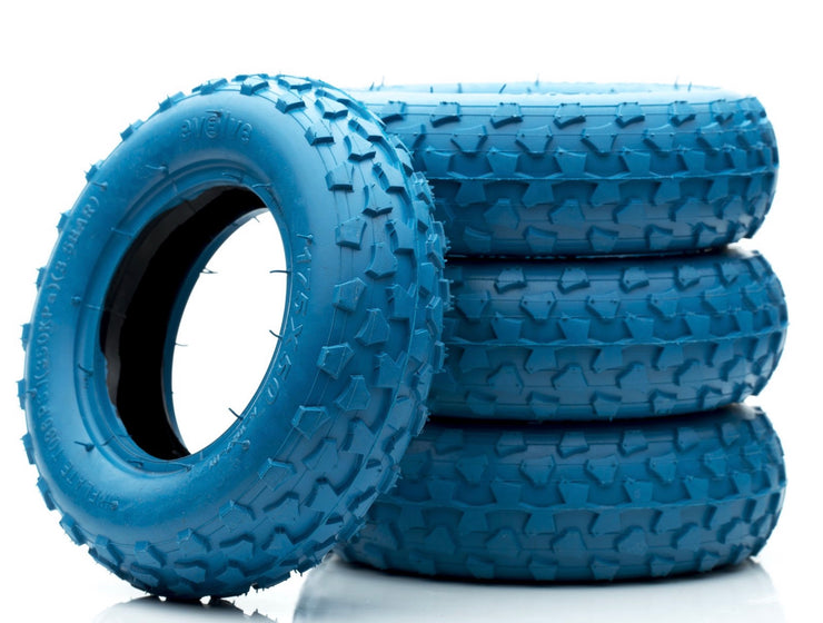 "Set of 4 Off Road Tyres 7"" in blue"