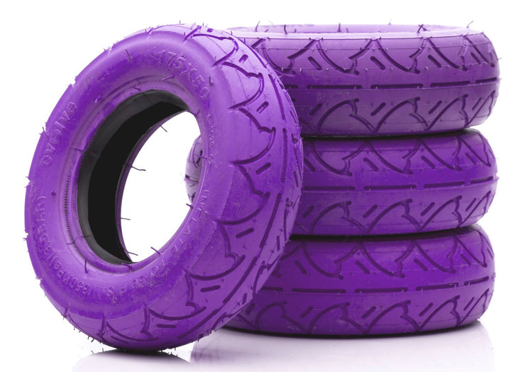 Set of 4 AT Tyers for evolve skateboard purple