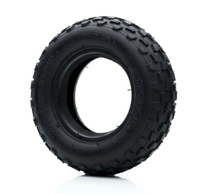 "Black Off Road Tyres 7"" front view"