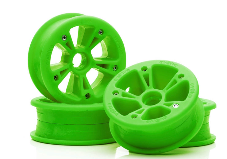 set of 4 green hubs for AT Tyers by evolve electric skateboard