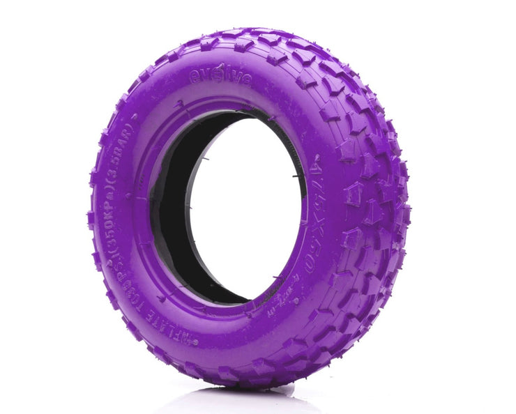 "Off Road Tyres 7"" in purple"