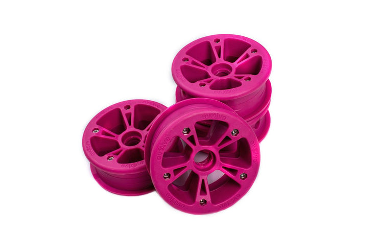 set of 4 pink hubs for AT Tyers by evolve electric skateboard
