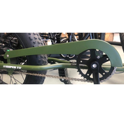 Side view Replacement Green chain guard for Super73 bike