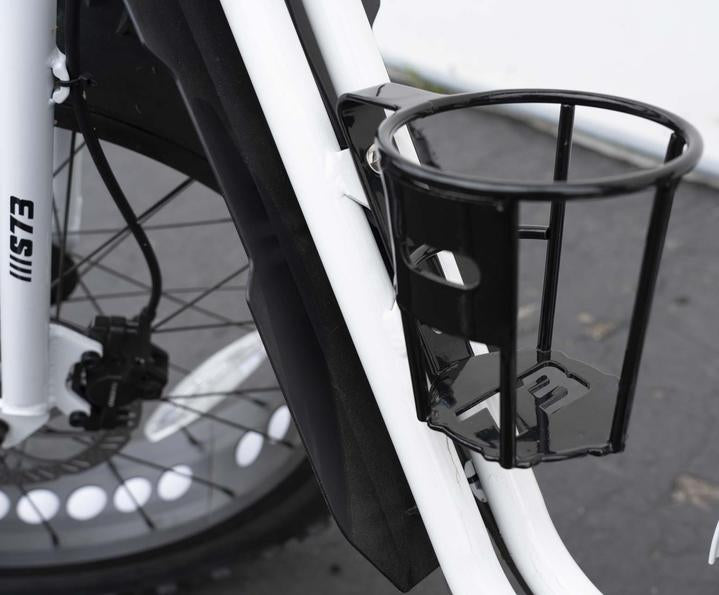Side view of super73 cup holder Attached on the bike