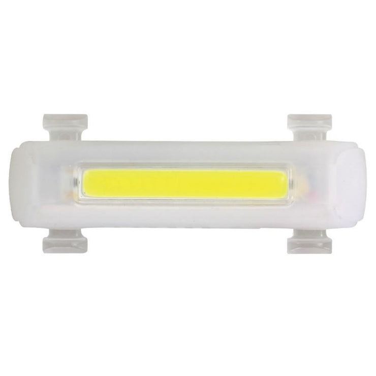 Front light for skateboards in clear cover