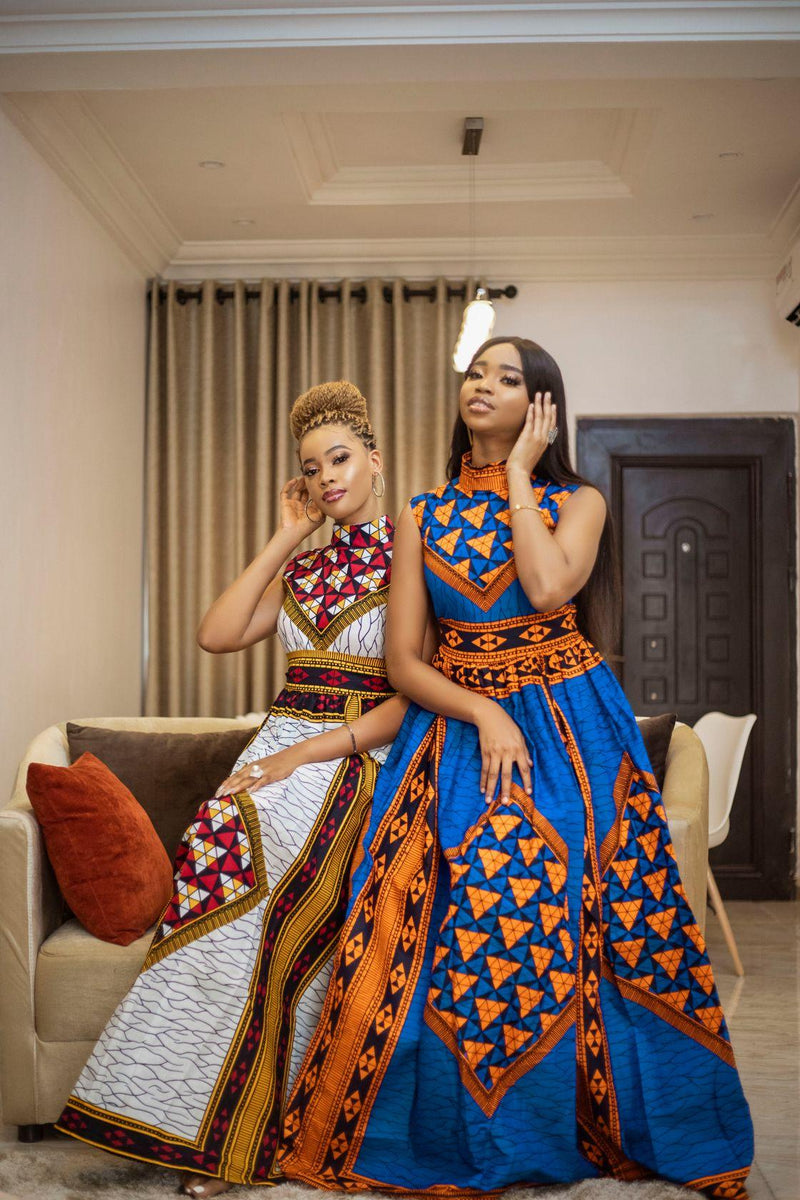Queen Moremi African  Print Maxi Dress