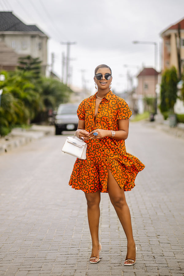 Muni  African Print  Shift dress