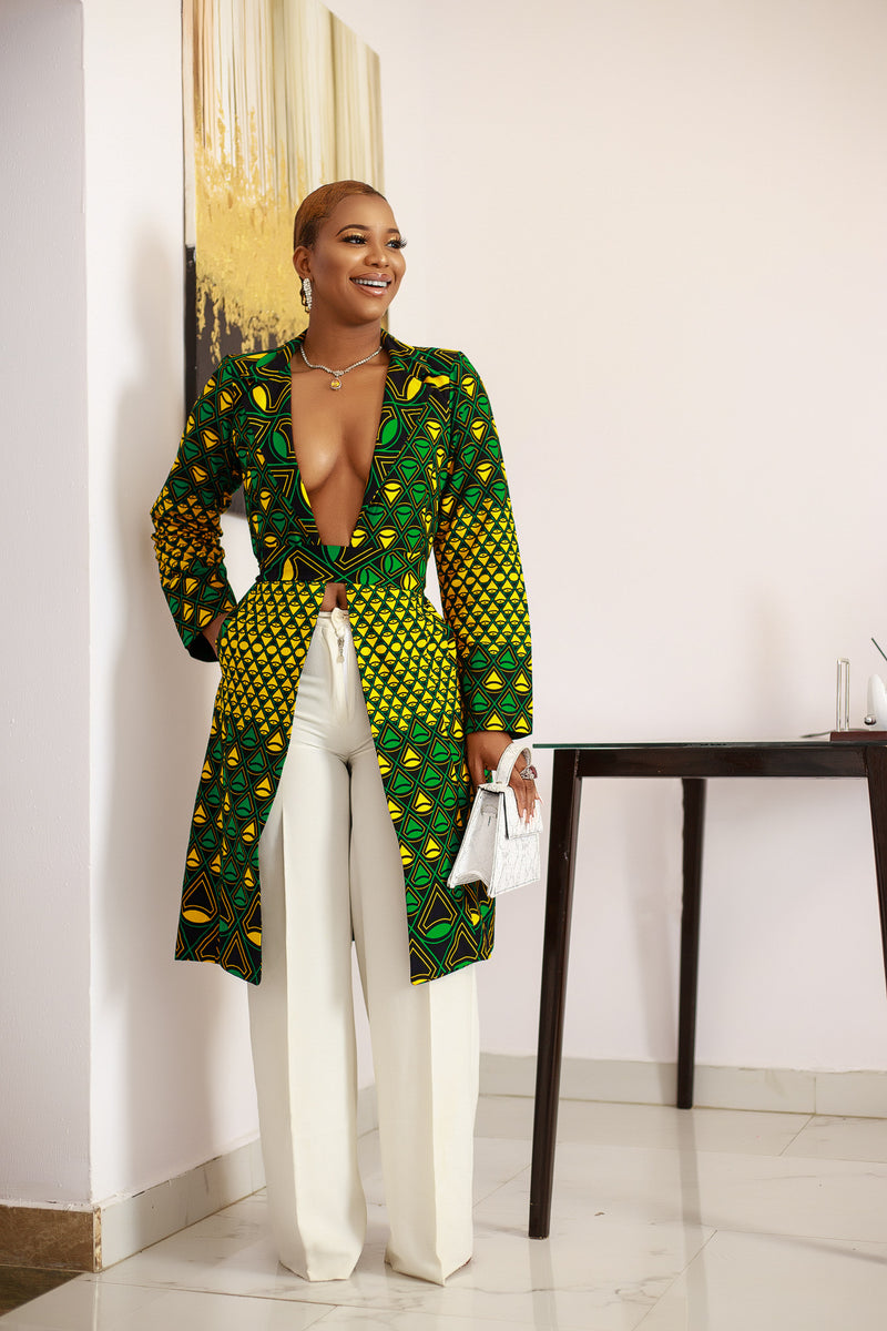 The Vivienne African Print Jacket