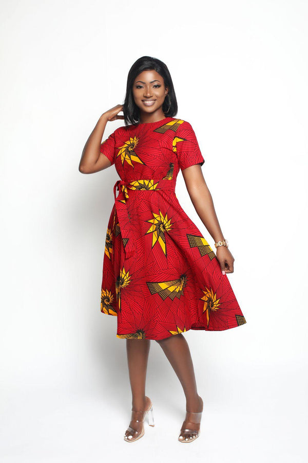 Funke Midi African Pint Dress