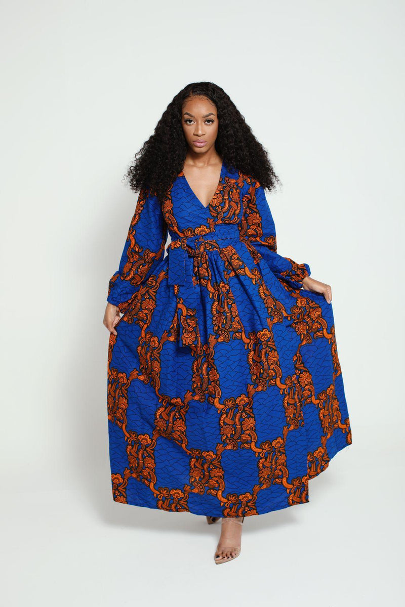 Bisola African Print Wrap dress