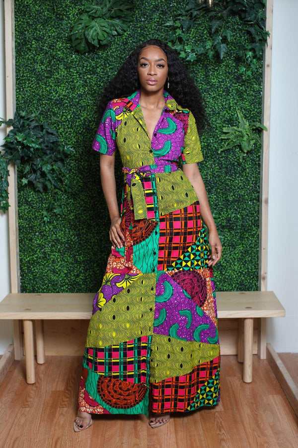 Ebele African Print Shirt Dress