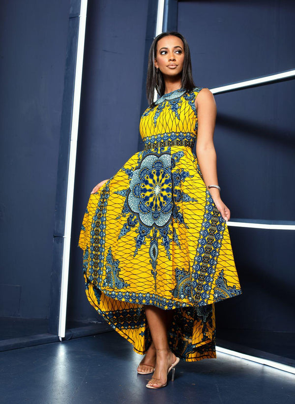 Egochi African print Hilow dress