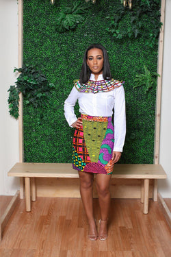 Sessie African print Multicolor skirt