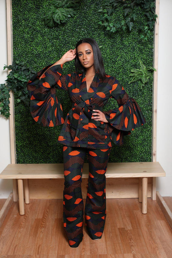 The Fierce Africa print Matching set