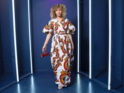 Queen Aphrodite African Print  Wrap Dress