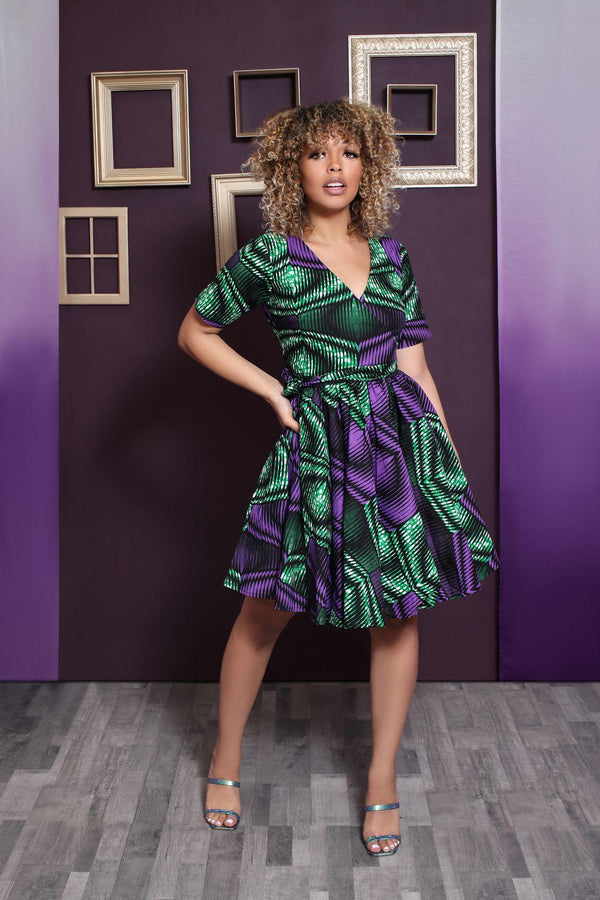 Shile African Print Wrap dress