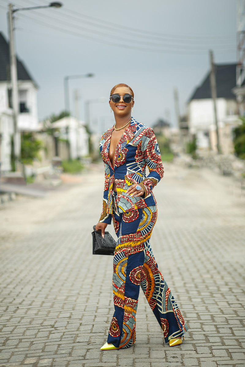 Teju African Print Jacket and Pant
