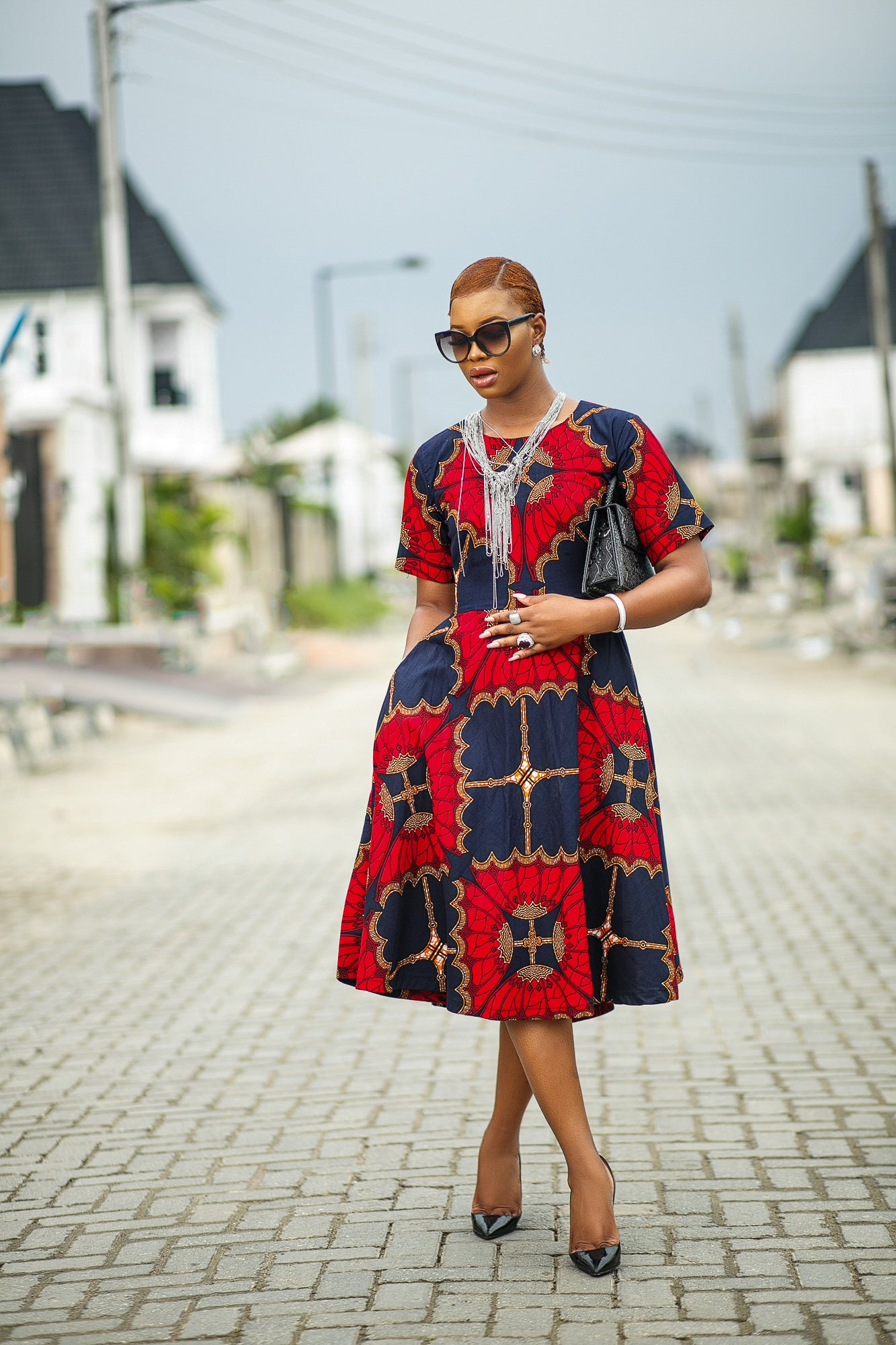 Chidinma African print dress