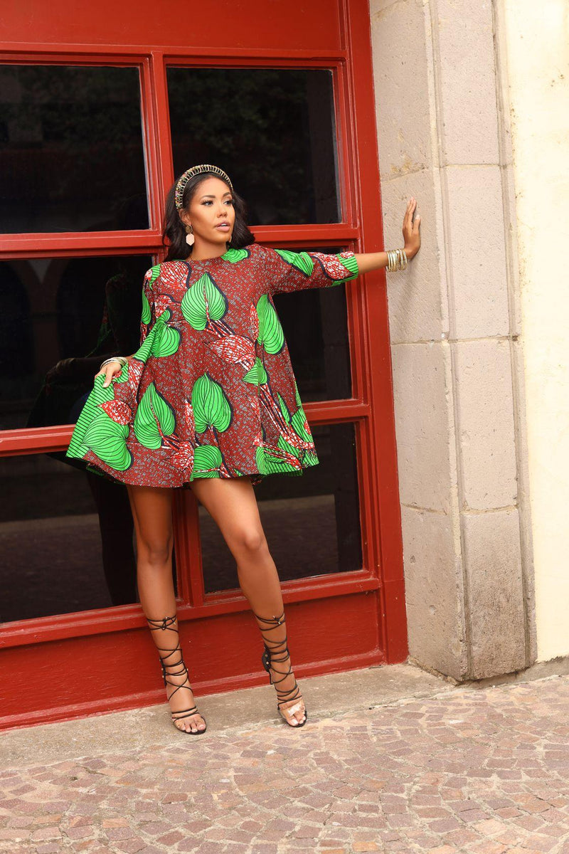 Tosin African print Shift dress
