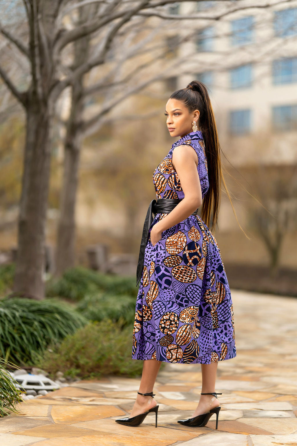 Nyeri Purple  Shirt dress
