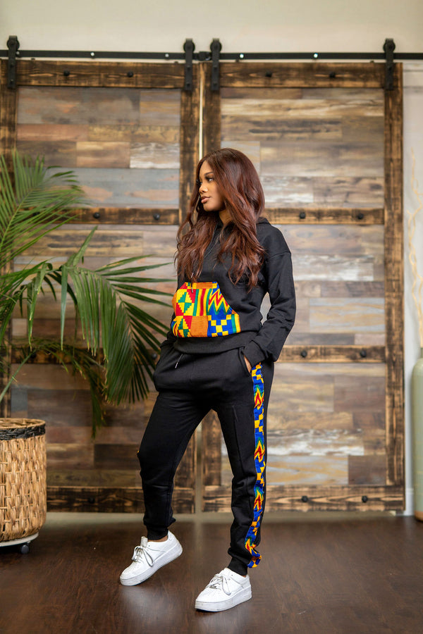 Amarya Black Sweat shirt and Jogger set