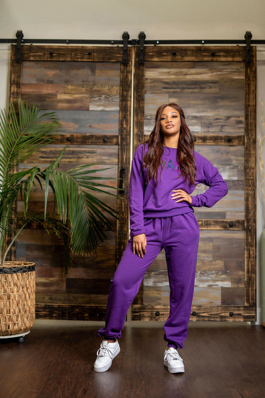 Purple Royalty Sweatshirt and Joggers set