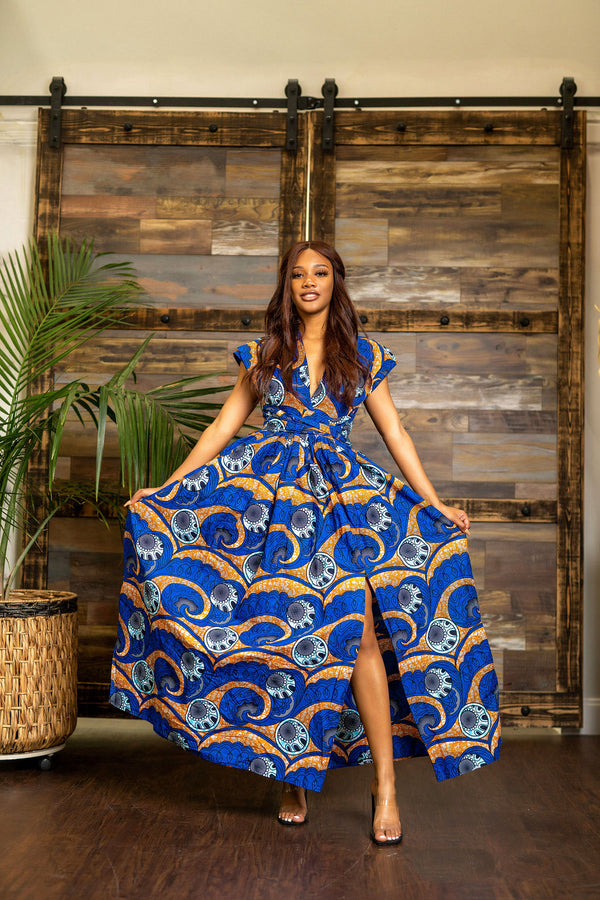 Kelechi Blue infinity dress