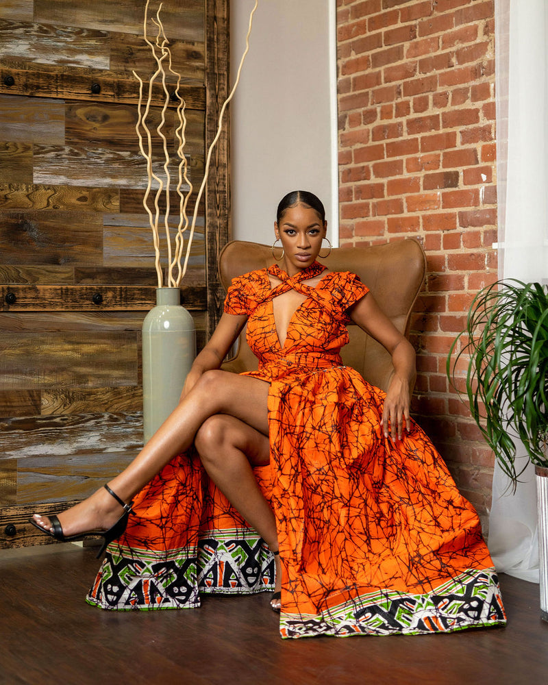 Nkosi Orange Infinity dress