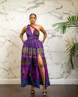 Uzoma purple  Infinity dress