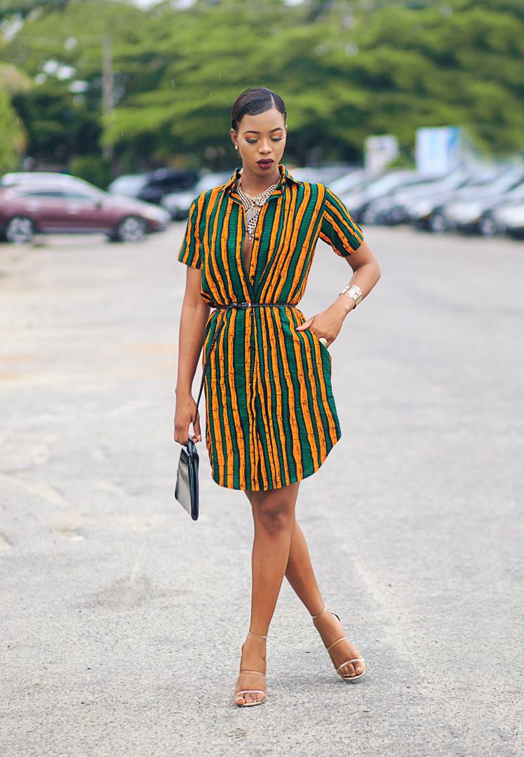 Badru Ankara Shirt Dress