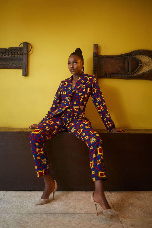 Sisi Oge African print Jacket  and pant set