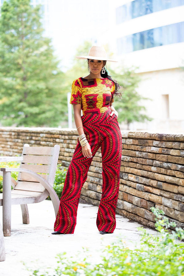 Jemima Mixed print Jumpsuit
