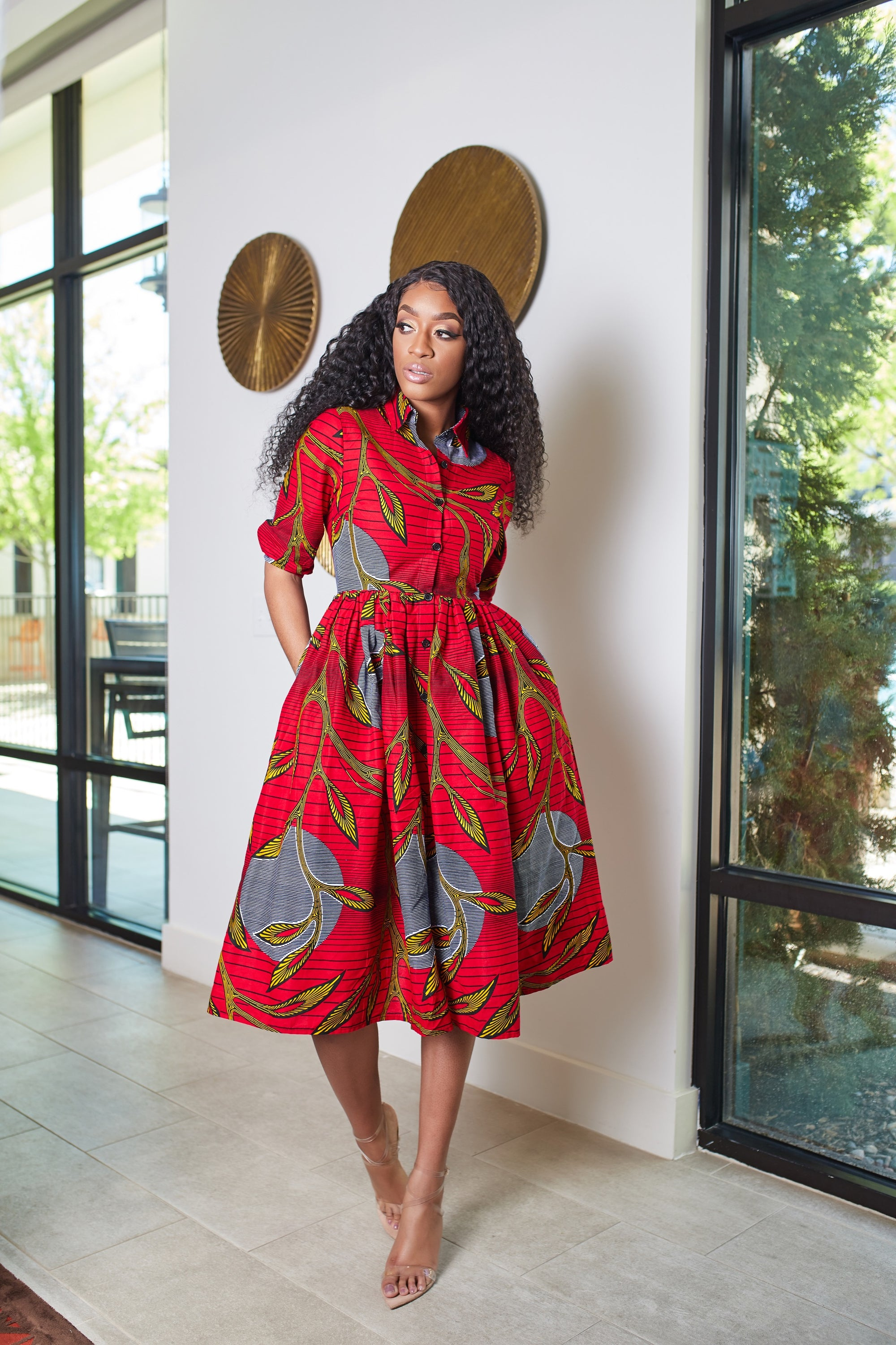 Chinny African print dress