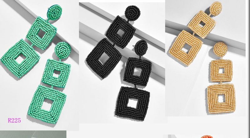 Square Statement Earrings