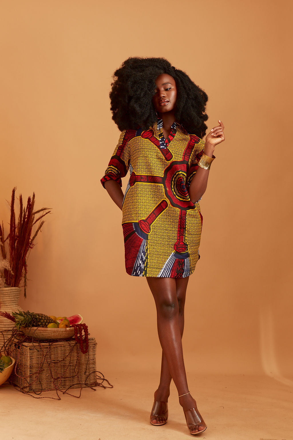 Omi African print Shift dress
