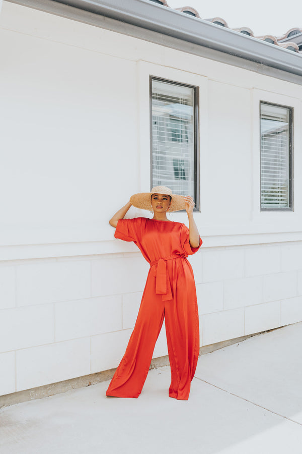 TIFF JUMPSUIT ORANGE