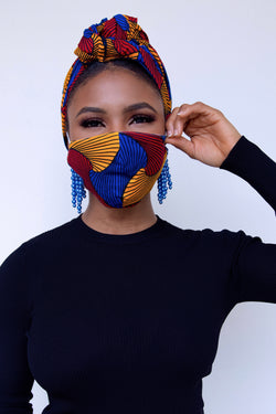 Cheyenne Head wrap and mask Set