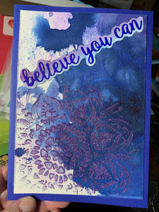 """Believe You Can"" Inspiration Card"
