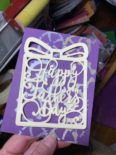 Father's Day Die Cut - Plain