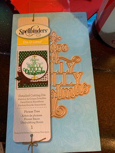 Spellbinders DIE D LITES PHRASE TREE HOLIDAY ETCHED DIE - New