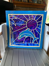 Load image into Gallery viewer, Dancing Dolphin on Acrylic Pour