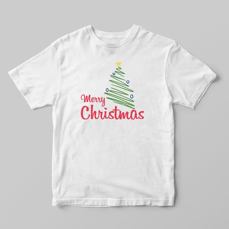 e6c37372a45 Merry Christmas Tree Graphic Tee Women T Shirt Cotton White Tshirt Words  Sayings Shirt Tops December ...