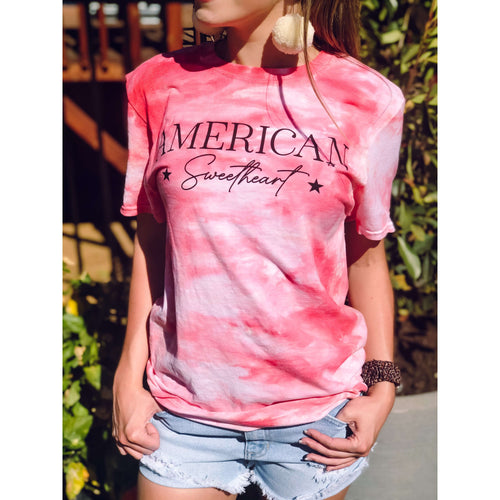 American Sweetheart Graphic Tee:The Rustic Buffalo Boutique