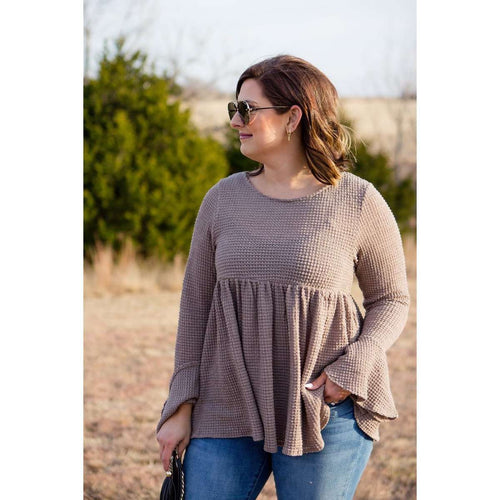 Babydoll Thermal Top:The Rustic Buffalo Boutique