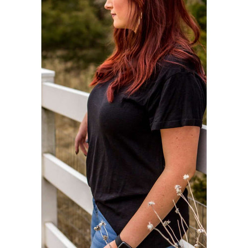 Black Basic Tee:The Rustic Buffalo Boutique