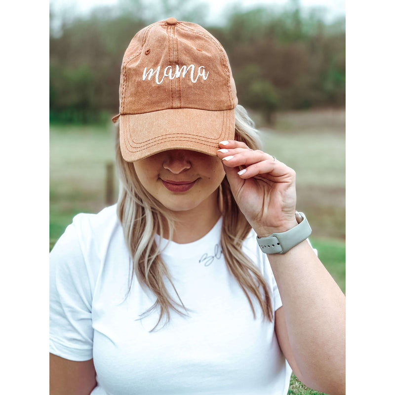 Burnt Orange Mama Hat:The Rustic Buffalo Boutique