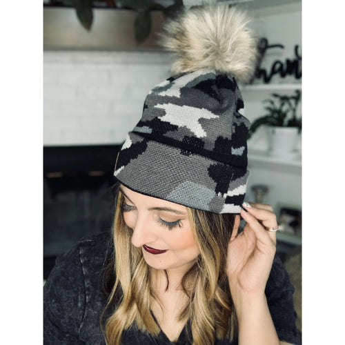 Camo Beanie:The Rustic Buffalo Boutique