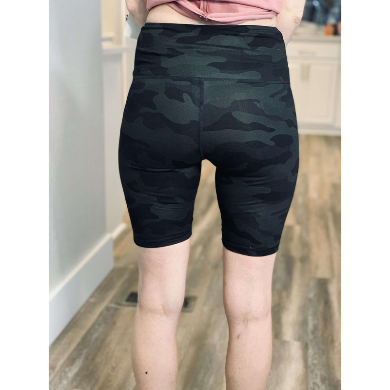 Camo Biker Shorts:The Rustic Buffalo Boutique