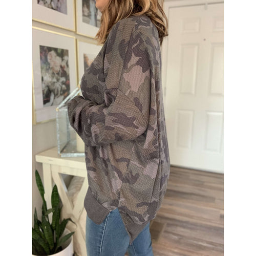 Camouflage Print Thermal:The Rustic Buffalo Boutique